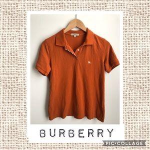 Burberry Burnt Orange Polo 🧡